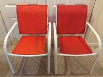 Red & Orange Mesh Metal Chairs in Naperville, Illinois