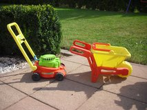 Toddler Lawn Mower and Wheel Barrow in Spangdahlem, Germany