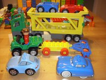 Lego Duplos - 200+ pieces, vehicles, fire station, etc in Spangdahlem, Germany