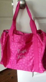 "31 Gym Bag Hot Pink with monogram ""Yoga Fun"" in Beaufort, South Carolina"