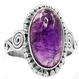 New - Natural Amethyst 925 Sterling Silver Ring Jewelry - Size 9 1/2 in Alamogordo, New Mexico