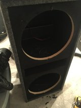 JL Audio amp with subwoofer box in Houston, Texas