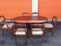 Duncan Phyfe Table / 6 Chairs Rose Back in Camp Lejeune, North Carolina