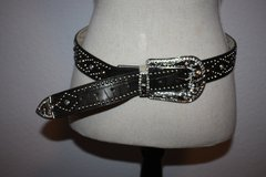Diamond Studded Leather Belt in Ramstein, Germany