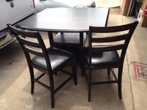 Heavy Solid wood hight table with 5 chairs in Fort Polk, Louisiana