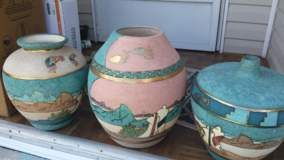 Urns/flower pots in Houston, Texas