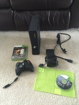 Xbox 360 slim 4gb with 2 games and 1 controller in Beaufort, South Carolina