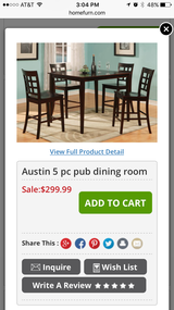 Pub table and chairs in Fort Polk, Louisiana