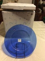 Villeroy & Boch large blue charger plates in Fort Leonard Wood, Missouri