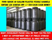 Heavy Duty Plastic Mixing and Storage Barrels in Bartlett, Illinois
