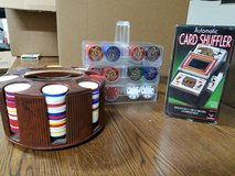 Poker chips and automatic card shuffler in Alamogordo, New Mexico