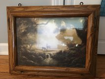 Sepia picture wall mail pocket oak frame in Bartlett, Illinois