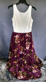 Ladies Floral Lined Handkerchief Skirt Dress with White Lace Top, Size 3 in Lawton, Oklahoma