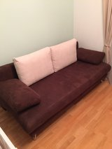 Chocolate/Beige pull-out couch in Wiesbaden, GE