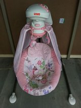 Pink Fisher Price Baby Girl Swing in Yucca Valley, California