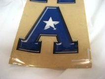 "2 Large Blue ""A"" Car Truck Decal Atascocita Middle School AMS Tigers in Houston, Texas"