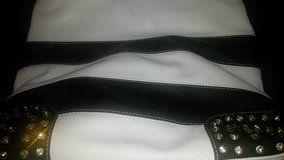 black and white stripe bag in Beaufort, South Carolina