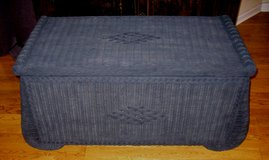 Vintage Wicker Hope Chest Blanket Chest in Naperville, Illinois