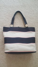 Kate Spade Stripe Black Tan Purse in St. Charles, Illinois
