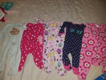 Baby girl sleepers 3-6mnths in Camp Pendleton, California