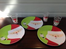Set of 3 Christmas Plates and Matching Cups in Naperville, Illinois