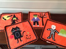Set of 4 Halloween Cloth Placemats from Pottery Barn Kids in Glendale Heights, Illinois