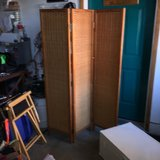 Room Divider/Tri fold screen. 63h and each panel is 14 1/2 w. Beautiful woven look.  Very sturdy... in Schaumburg, Illinois