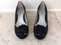 Girls Black Dress Shoes (low wedge heels) from Nodstrom - Size 4 in Glendale Heights, Illinois