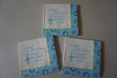 "Party Express/Hallmark ""Blessed Baby Boy"" Luncheon Napkins in Chicago, Illinois"