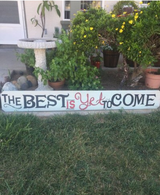 Hand Painted Wooden Sign in Vista, California