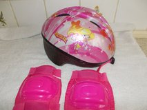 Girls Bicycle Helmet, as new, with Knee Pads in Lakenheath, UK