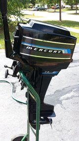 Mercury 7.5hp outboard boat motor, Like New in Naperville, Illinois