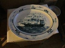 """**Reduced** 17"""" Oval Serving Platter in Nautical by Oxney Green in Cleveland, Texas"""
