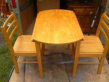 Small solid wood kitchen table and chair set - $145 in Camp Lejeune, North Carolina