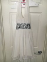 White/ silver sequins prom dress in Fort Irwin, California