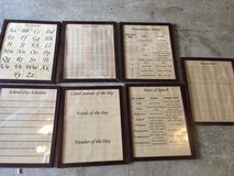 6 Framed Educational Prints in Fort Campbell, Kentucky
