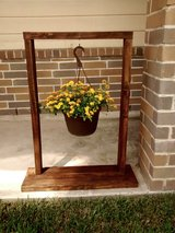 Rustic hanging plant frame in Kingwood, Texas