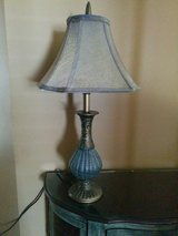 Like new! Neutral Green/Gray Lamp with Shade (3-way) in Lockport, Illinois
