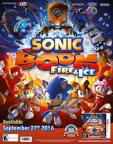 Sonic Boom Fire And Ice GameStop Expo 2016 SEGA 25th Exclusive Poster Nintendo 3DS in Kingwood, Texas