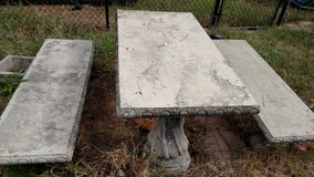 Concrete Picnic Table and Bench Set in Fort Benning, Georgia