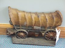 Old Cast Iron Covered Wagon Door Stop- At Clark's Antique Mall in Camp Lejeune, North Carolina