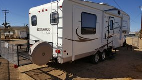Fifthwheel trailer in Yucca Valley, California