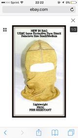 Cold weather face mask protective shield in Camp Pendleton, California