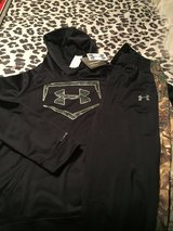 Youth XL Under Armour  hoodie and Camo pants new w tags in Belleville, Illinois