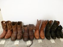 Mens COMPOSITE STEEL TOE WORK BOOTS, LACE UPS, COST $200 EXC in Katy, Texas