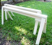 6' LONG HVY DUTY HAND-MADE SOLID WOOD SAWHORSES, (INC 2) in Houston, Texas