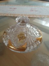 Lead Crystal Candy Dish with Gold Trim in Ramstein, Germany
