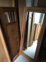 Antique Schrunk/closet with mirror doors + twin bed frame - FREE in Ramstein, Germany