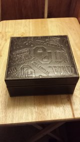 Oklahomal University leather tie/watch/accessories box. embossed leather in Fort Riley, Kansas