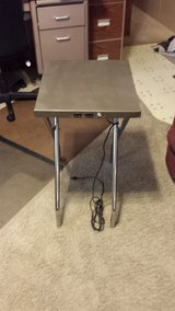 Portable folding metal extension table (10' cord with pair of grounded plugins) in Manhattan, Kansas